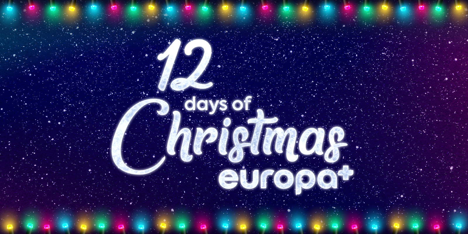 12 days of Christmas on Europa+ banner
